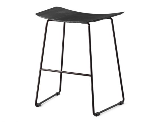 Winnie Stool Black With Black Stained Oak Seat