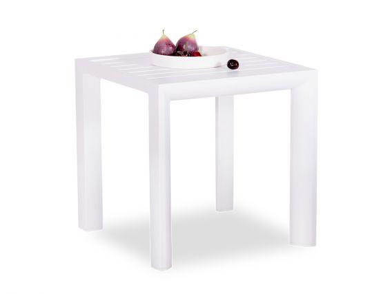 Alvor Outdoor Side Table White Alu Frame