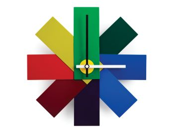 Multicoloured Watch Me Wall Clock by Rasmus Gottliebsen for Normann Copenhagen image