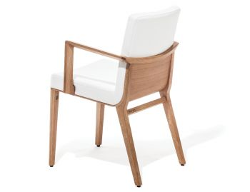 Moritz Natural Oak Armchair in Custom Upholstery by Kai Stania for TON image