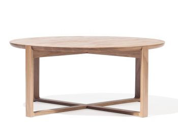 Wide Delta Natural Solid Oak Coffee Tables by Kai Stania for TON image