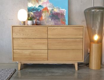 Copenhagen Solid European Oak Wide Chest of Drawers by Bent Design image