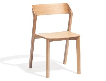 Merano Natural Oak Stackable Dining Chair by Alex Gufler for TON image