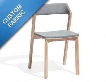 Merano Natural Oak Stackable Dining Chair w Pad by Alex Gufler for TON image