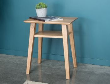 Copenhagen Solid European Oak Bedside Table w Shelf by Bent Design image