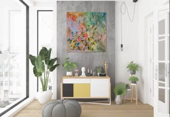 Banksia Charmer 100 x 100 cm Acrylic on Canvas by Marinka Parnham image