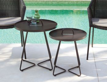 Black On the Move Side Table By Strand & hvass For Cane-line image