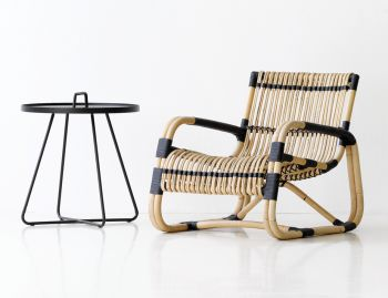 Curve Cane Lounge Chair By Foersom & Hiort-Lorenzen for Cane-Line image