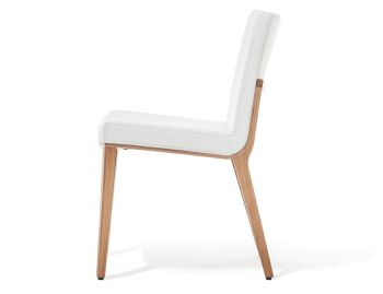 Moritz Natural Oak Chair in Custom Upholstery by Kai Stania for TON image