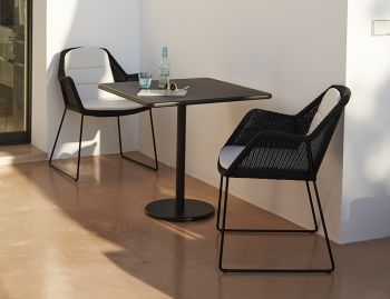 Black Breeze Outdoor Dining Chair by Strand & hvass For Cane-line image