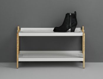 White Sko Shoe Rack by Simon Legald for Normann Copenhagen image