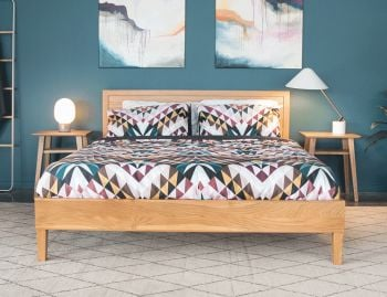 Copenhagen Queen Size Solid European Oak Bed Frame by Bent Design image