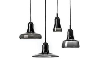 Individual Smoke Grey Shadows Pendant by Dan Yeffet and Lucie Koldova for Brokis image