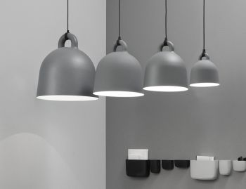 Grey Bell Pendant Lamp by Andreas Lund & Jacob Rudbeck for Normann Copenhagen image