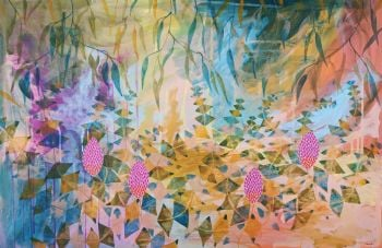 Basking in the Banksia's 150x100cm Acrylic Paint on Canvas Original Painting by Marinka Parnham image