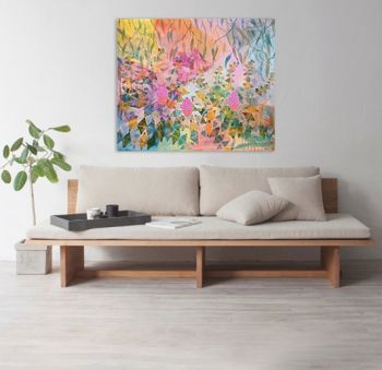 Beautiful Banksia's 120x100cm Acrylic Paint on Canvas Original Painting by Marinka Parnham image