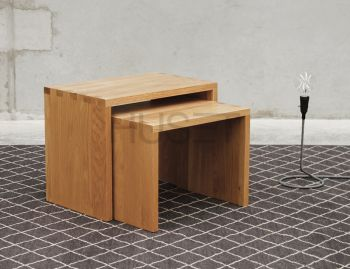 Boston Solid Oak Nest of Tables by Bent Design image