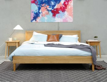 Copenhagen King Size Solid European Oak Bed Frame by Bent Design image
