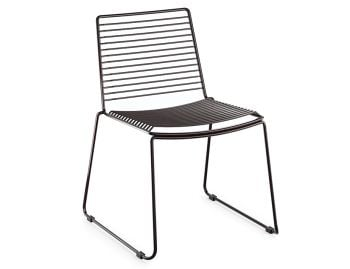 Velletri Black Indoor Outdoor Wire Dining Chair by Glid Studio for Huset image