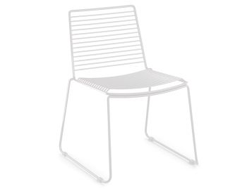 Velletri White Indoor Outdoor Wire Dining Chair by Glid Studio for Huset image