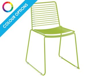 Velletri Custom Dulux Powedercoated Indoor Outdoor Wire Dining Chair by Glid Studio for Huset (Min Order 10) image