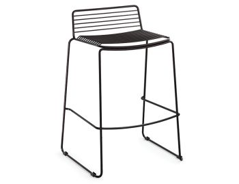 Velletri Black Indoor Outdoor Wire Bar Stool by Glid Studio for Huset image