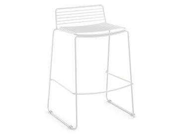 Velletri White Indoor Outdoor Wire Bar Stool by Glid Studio for Huset image