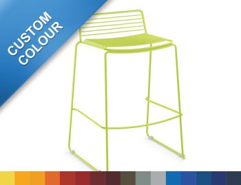 Velletri Custom Dulux Outdoor Wire Bar Stool by Glid Studio for Huset (Min Order 10) image