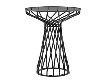 Velletri Black 62cm Smoke Glass Indoor Outdoor Cafe Table by Glid Studio for Huset image