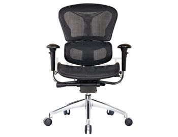 Vytas Chrome ErgoMesh Black Mesh / Black Plastic Ergonomic Office Chair image