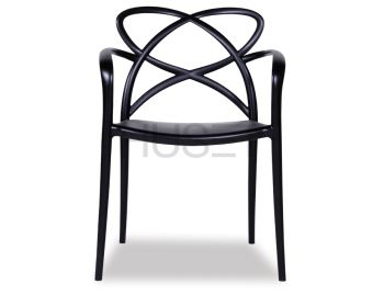 Black Mucha Stackable Armchair by Enrique Marti for OOLand image