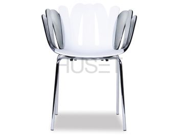 White with Smoke Arms Daisy Arm Chair by Enrique Marti Associates for OOLand image