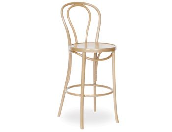 Natural Vienna Bentwood Thonet Bar Stool by Fameg image