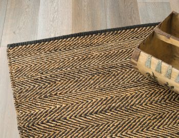 Serengeti Jute Charcoal and Natural Rug by Armadillo&Co image