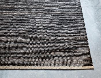 Drift Jute Wool Natural and Black Rug by Armadillo image