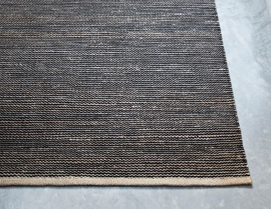 Natural And Black Drift Weave Rug