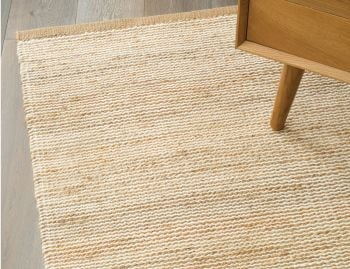 Drift Jute Wool Natural and White Rug by Armadillo&Co image