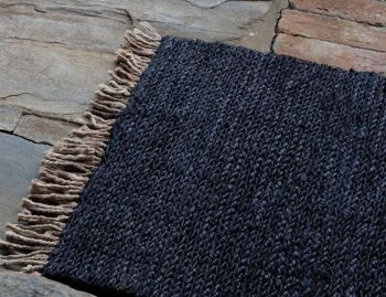 Sahara Weave Jute Charcoal Entrance Door Mat by Armadillo image