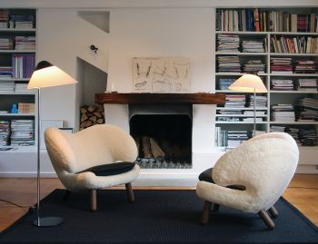 Opala Floor Lamp Black by Hans Wegner for Pandul image