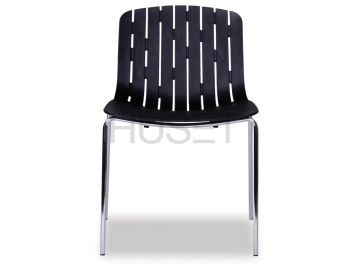 Gotcha Chair Black with Chrome Legs by Enrique Marti for OOLand image