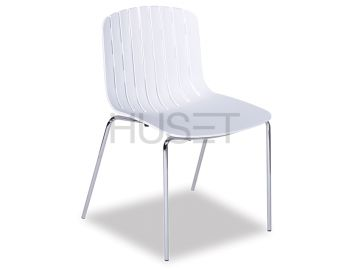 Gotcha Chair White with Chrome Legs by Enrique Marti for OOLand image
