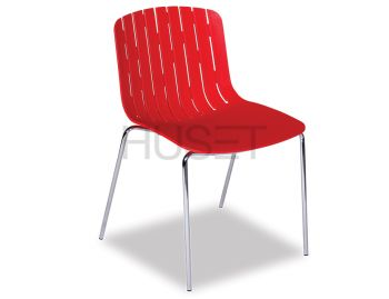 Gotcha Chair Red with Chrome Legs by Enrique Marti for OOLand image