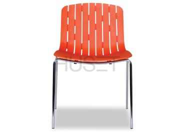 Gotcha Chair Orange with Chrome Legs by Enrique Marti for OOLand image