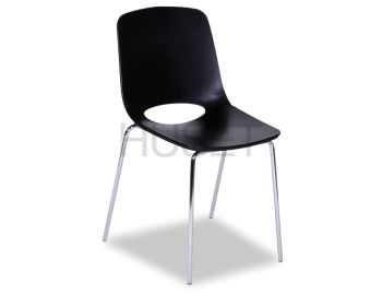 Wasowsky Chair Black with Post Legs by Enrique Marti for OOLand image
