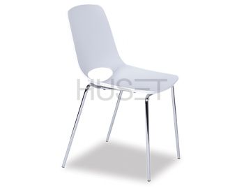 Wasowsky Chair White with Post Legs by Enrique Marti for OOLand image