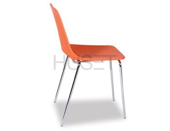 Wasowsky Dining Chair Orange with Steel Legs by Enrique Marti for OOLand image