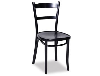 Black Linz Bentwood Chair by Micheal Thonet image