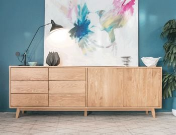 Copenhagen Solid European Oak Sideboard Buffet 220cm by Bent Design image