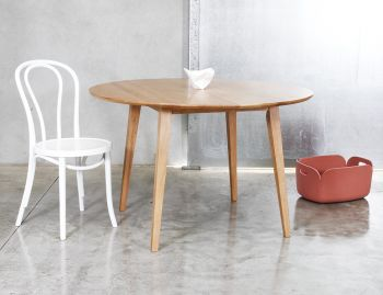 Copenhagen Solid European Oak 120cm Round Dining Table by Bent Design image