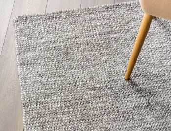 Sierra Wool and Viscose Weave Pumice Rug by Armadillo&Co image